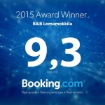 B&B booking award_lomamokkila