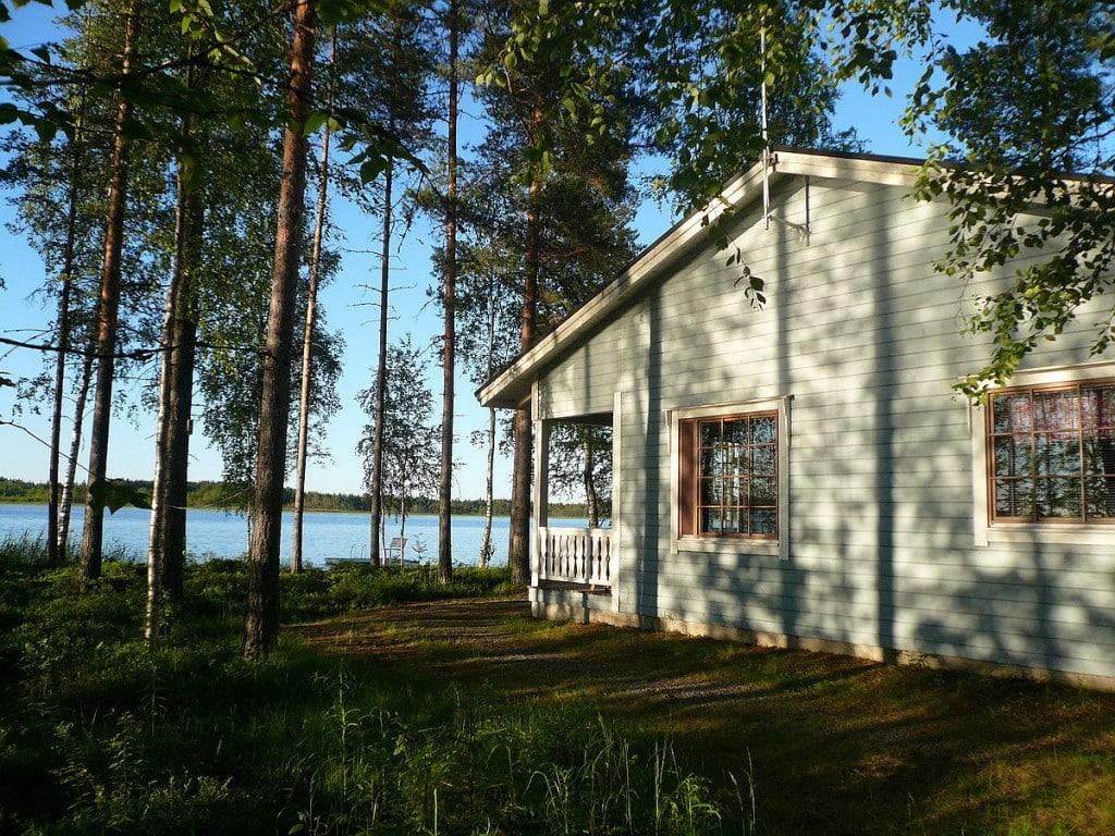 mökki cottage rantamökki lake